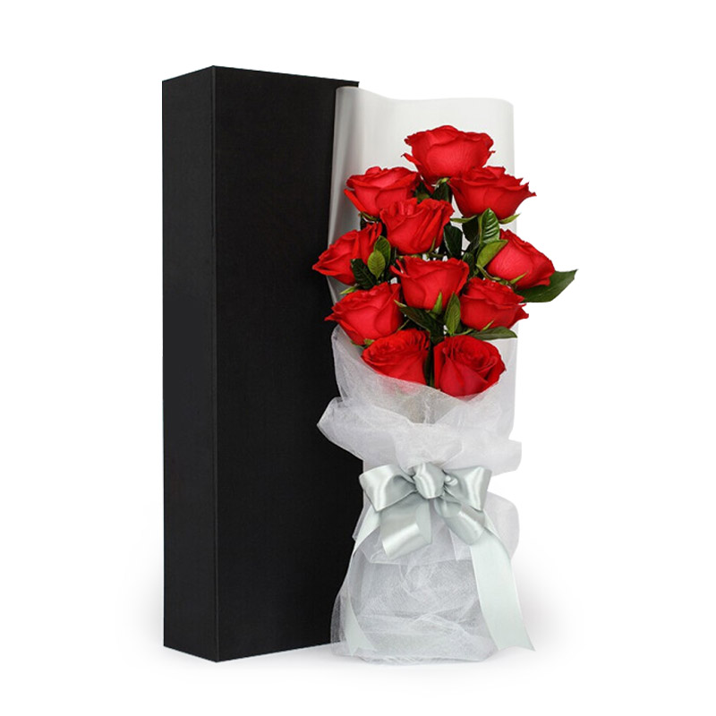 11枝精品红玫瑰礼盒