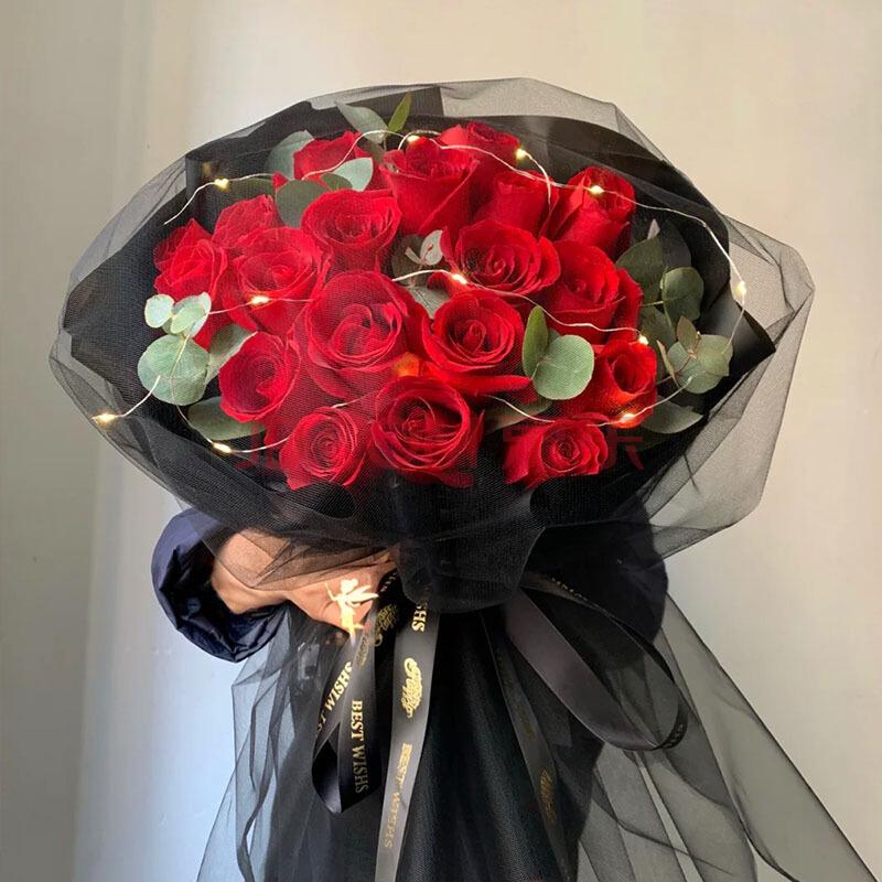 19枝红玫瑰网纱款