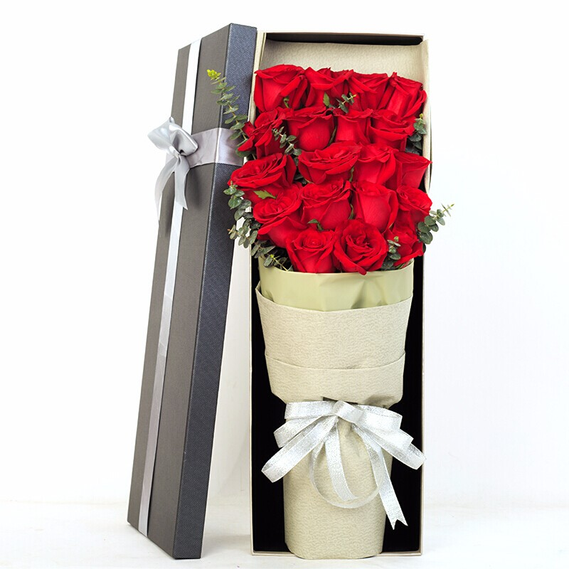 精選19朵紅玫瑰花束