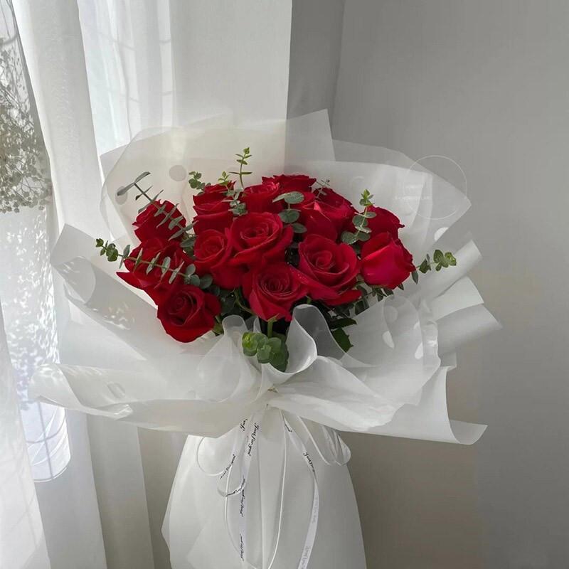 19枝红玫瑰网红款