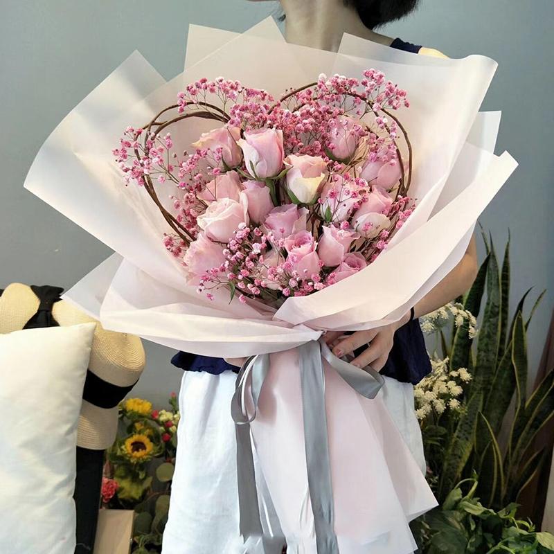 16朵戴安娜心形花束