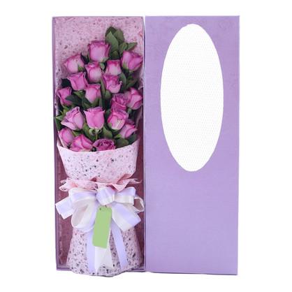美人心 紫玫瑰花束