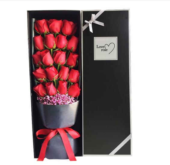 19枝红玫瑰精美礼盒