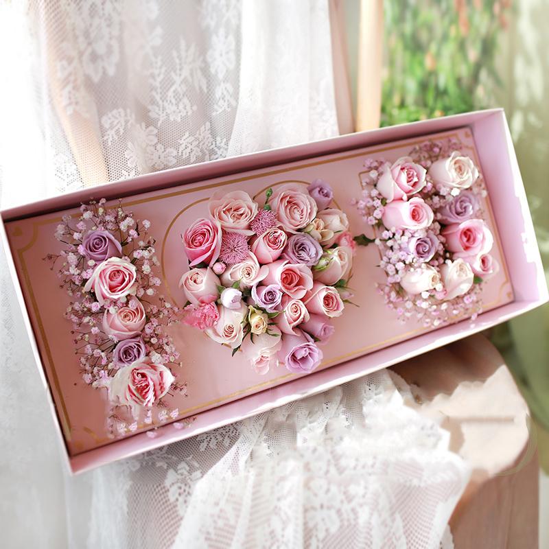IOU字母玫瑰花盒