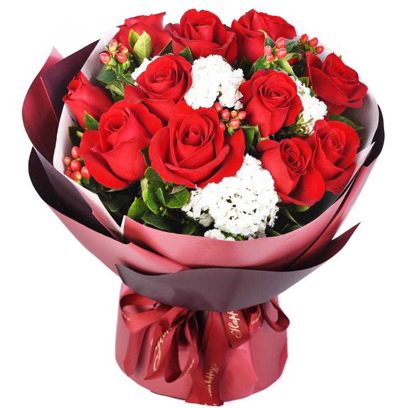 11枝紅玫瑰經典花束