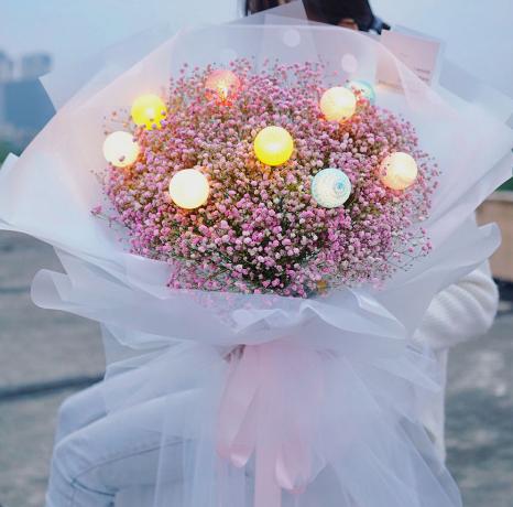 送鮮花祝福語20字內,網上送花祝福如何