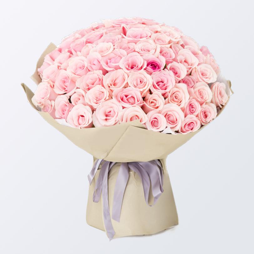 99枝粉玫瑰精品花束