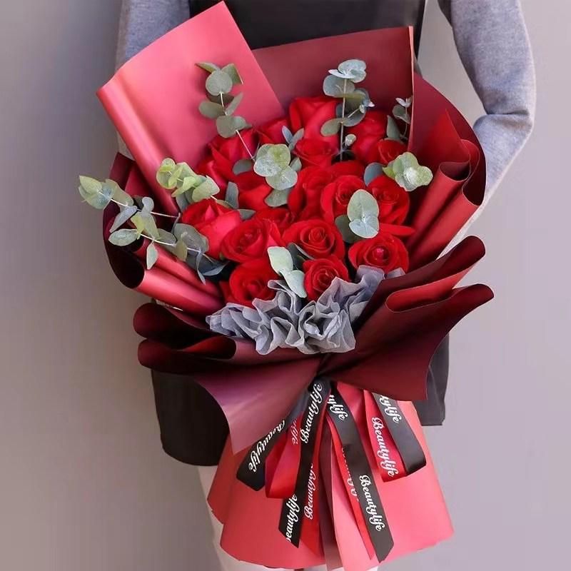 19枝紅玫瑰韓式花束
