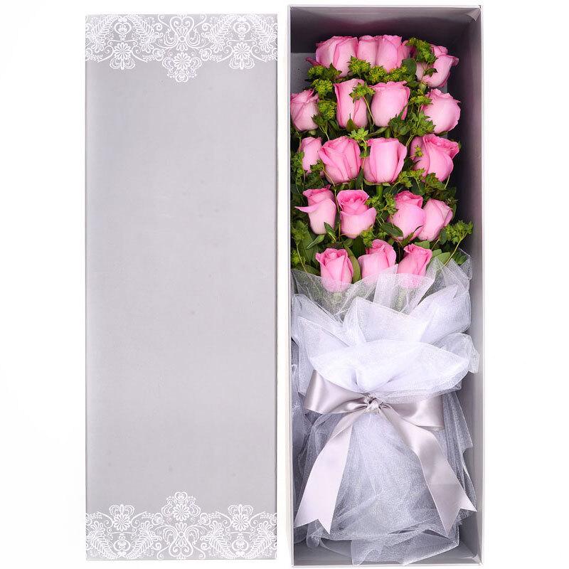 19枝精品粉玫瑰