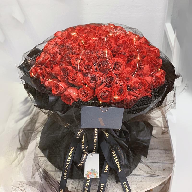 99朵红玫瑰网纱款