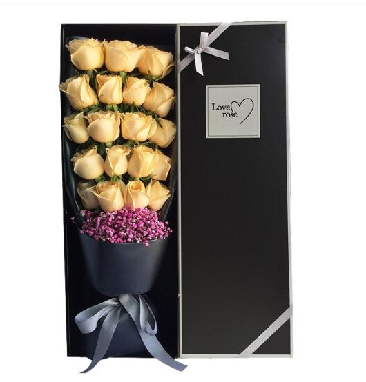 19朵香檳玫瑰精美禮盒