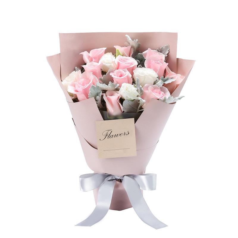11枝粉玫瑰精品小花束