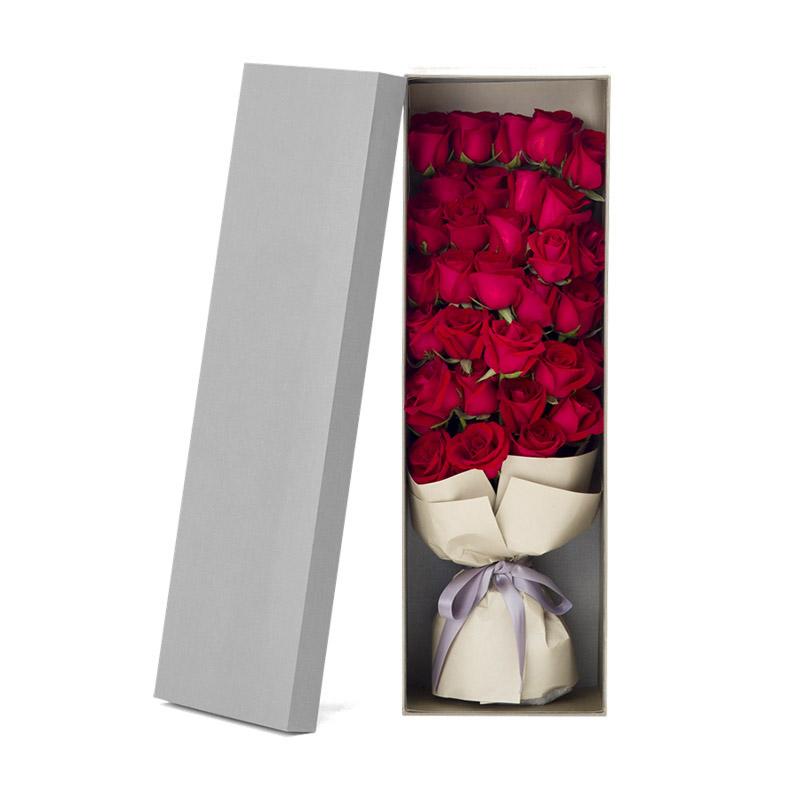 33枝紅玫瑰創意禮盒