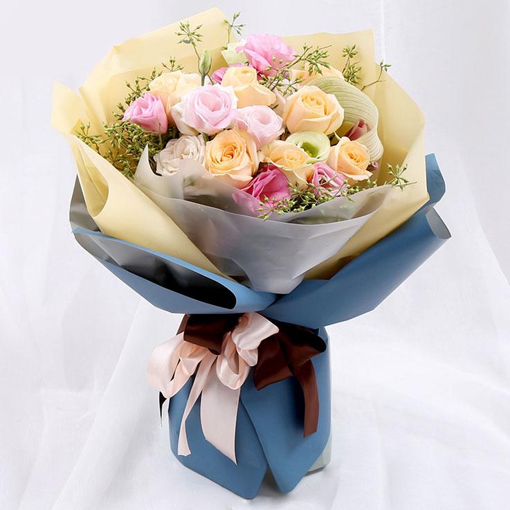 16枝混搭玫瑰花束